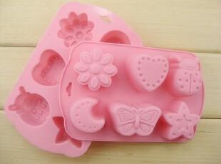 硅胶蛋糕模具 布丁模具 手工皂模 新款6连蝴蝶甲虫爱心月亮等,烘焙,