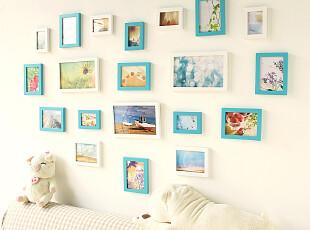 包邮心形照片墙 实木相框创意组合相片墙 温馨适合结婚照宝宝成长,照片墙,