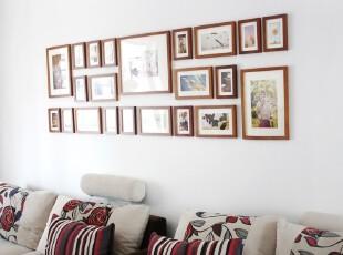 [大尺寸照片墙组合创意]22相框实木相框墙相片墙1022款 适合客厅,照片墙,