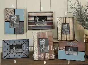 美式乡村 家居饰品 复古木质创意图案做旧专利相框 可立特原单,照片墙,