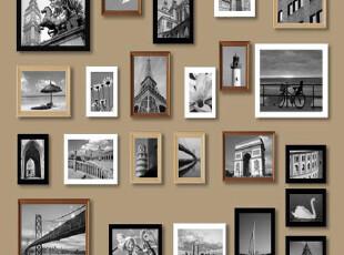 23框欧式实木照片墙相框墙相片墙背景墙组合创意客厅家居送图片,照片墙,