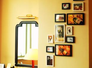 全悦 实木照片墙 13框创意相框 组合相片墙 横竖款通用13QY643,照片墙,