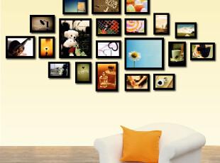 唯家 20框 实木相框墙相框相片墙创意家居欧式相框组合照片墙,照片墙,