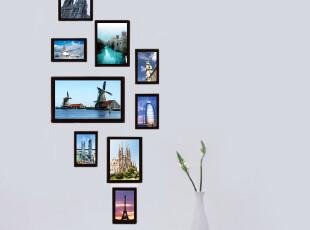 全国包邮 [积累小家]组合相框墙 纯实木相框,送模板,送照片!,照片墙,