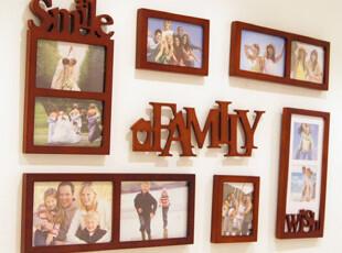 欧美控7框字母组合照片墙相框相片墙像框组合墙个性化,照片墙,