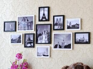 11框欧式照片墙 组合 创意 相片墙 纯实木相框组合墙 像框墙 包邮,照片墙,