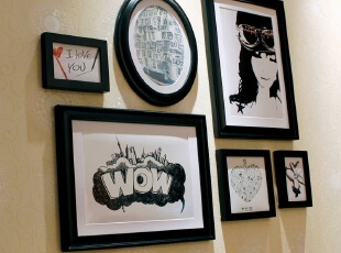 金零点旗舰店PU06高端实木相框新款创意照片墙相框墙相框组合,照片墙,