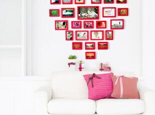 宜家风格爱心相框爱的回忆相框墙 墙面装饰 组合相框 相片墙 017,照片墙,