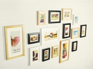 照片墙15框组合实木相片墙 创意相框墙 适合客厅卧室餐厅 1015款,照片墙,