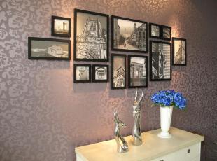 经典 12框实木相框 创意 画框 相框 挂画 照片墙 相框墙 相框组,照片墙,