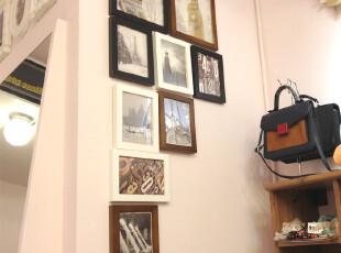金鼎 实木照片墙贴 相框墙 相框组合 创意 百搭9框服装店专柜正品,照片墙,