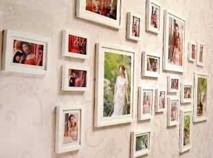 金鼎 实木 照片墙 相框墙 组合创意 相片墙 生活照婚纱照 20框,照片墙,