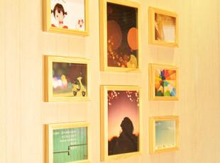 梓晨 实木照片墙 相片墙 组合相框墙 8框创意家居组合 HD-62,照片墙,