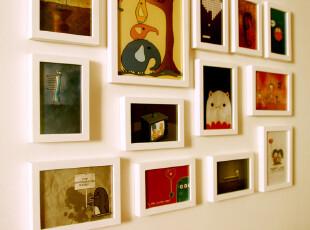 维佳13框照片墙组合适合小墙面的照片墙创意组合实木相框墙,照片墙,