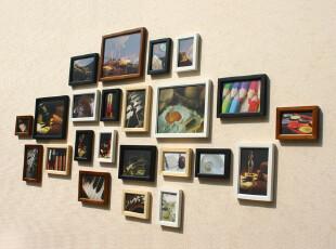 23框实木 相框墙 照片墙 相框 组合 墙 相片墙 创意家居 部分包邮,照片墙,