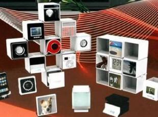 窝里窝外 英国Magic-Q-Bic魔法变幻数码装置收纳盒照片墙-白色,照片墙,