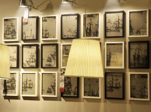 麦秋/MaiQiu 实木照片墙 餐厅背景墙 文化墙 照片组合 7寸21个框,照片墙,