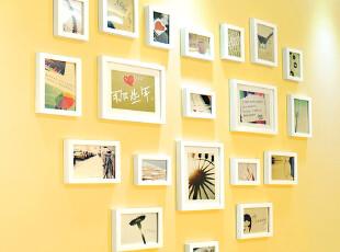 金鼎 实木 照片墙 相框墙 组合 创意 20框心形 最温馨 包邮三模板,照片墙,