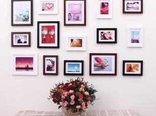 华艺家居15框照片墙实木相框墙15D组合沙发背景相片墙,照片墙,