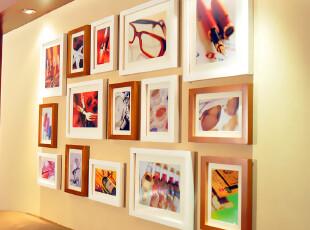 全悦 实木照片墙 相框组合墙 相片片墙 15框 15QY105,照片墙,