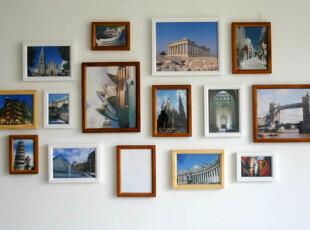 厂家直销 创意相片墙 小斜边实木照片墙 环保相框墙 客厅 欧式M15,照片墙,