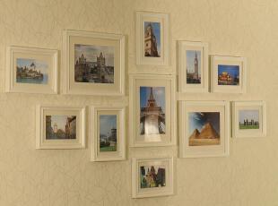 【全民疯抢】11框欧式照片墙 实木相框墙 相片墙 创意客厅 送画芯,照片墙,