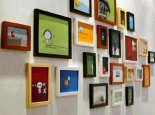 金零点RIB23高端实木相框新款创意照片墙相框墙相框组合,照片墙,