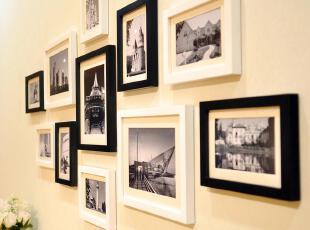 全悦 实木照片墙 11框创意时尚相片墙 相框组合 相框墙 11QY821,照片墙,