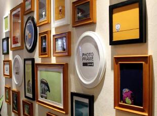 金零点旗舰店超大PU25高端实木相框创意照片墙相框墙相框组合,照片墙,