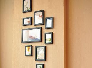 麦秋客厅实木相片墙相框组合创意相框墙欧式家居心形照片墙,照片墙,