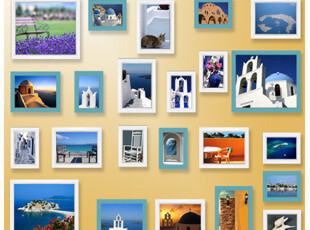 【7折疯抢】迪斯尼代工厂23个组合相框组合照片墙23C8376爱琴海,照片墙,