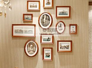 现货!典忆美阁【致爱丽丝胡桃木色】装饰画照片墙相框墙,照片墙,