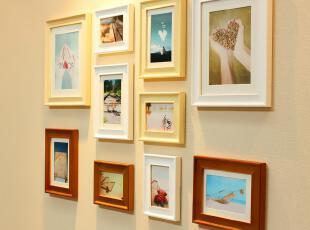 全悦 实木照片墙 温馨欧式相片墙创意组合结婚礼物相框墙10QY442X,照片墙,