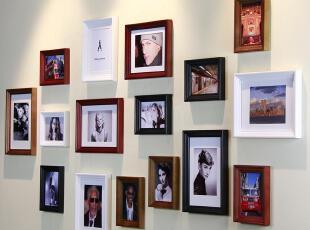 右手边 欧式照片墙 实木高档 16框相框墙 相片墙高品质礼品16A1,照片墙,