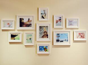 画之坊 创意百搭 欧式实木11框照片墙相框墙 组合 送原版图片,照片墙,