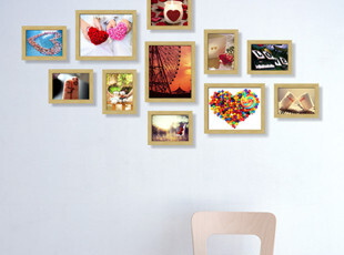 热卖! 相框组合 11框相框墙照片墙相片墙 加宽加厚,照片墙,
