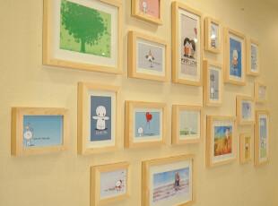 朵彩 照片墙 相框墙 相框组合 创意相片墙照片墙 实木客厅DC19-1,照片墙,