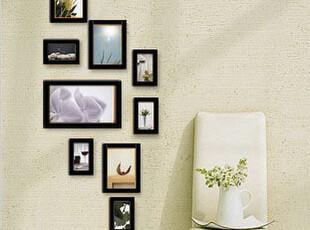 家乐迪 实木照片墙 9框组合纯实木相片墙 像框组合 相框墙,照片墙,