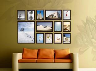 田园1310款加厚实木相框墙 照片组合沙发背景墙 13框大尺寸像框,照片墙,