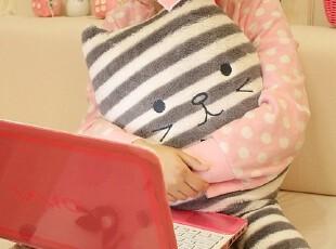 米西公主 梨花条纹猫 抱枕靠垫 毛绒玩具 超饱满可拆洗,玩偶,