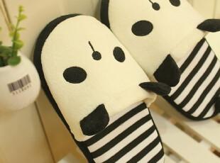 米西公主 超萌熊猫拖鞋 毛绒拖鞋 冬季保暖家居棉拖鞋 情侣拖鞋,玩偶,