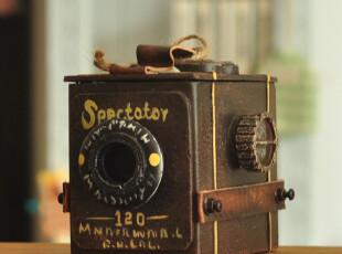 老式复古做旧相机模型收纳盒 拍摄道具 店铺装饰摆件 七夕礼物,玩偶,