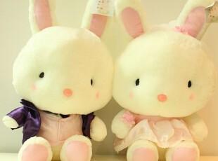 米西公主 兔年礼品 吉祥兔 情侣婚纱兔 公仔中秋结婚礼物 包邮,玩偶,