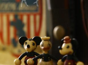 复刻版古董老玩具 胶质米奇迷你挂坠 (三款选),玩偶,