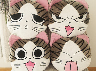 起司猫抱枕 七夕送女友礼物 猫咪靠垫 私房猫 毛绒玩具 可爱创意,玩偶,