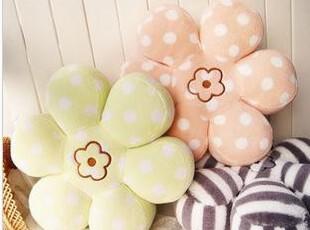 梨花系波点条纹花形花朵靠垫坐垫抱枕 3色 情人节生日礼物,玩偶,