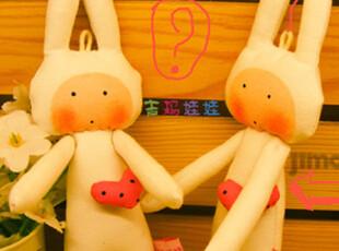 原创手工布偶 娃娃 DIY 不二兔子 安东尼,玩偶,