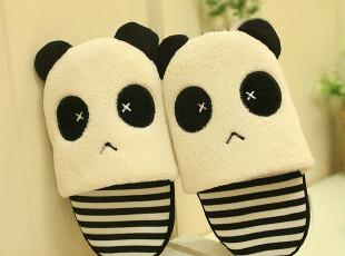 米西正版 可爱 熊猫拖  卡通拖秋冬保暖 情侣棉拖,玩偶,