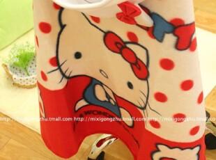 米西公主 新品 KT猫咪 凯蒂猫 家用车用红色带帽披肩 抖蓬,玩偶,