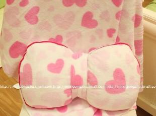米西公主 蝴蝶结 枕头 家居靠枕 空调毯子 2件套 家居车载必备,玩偶,